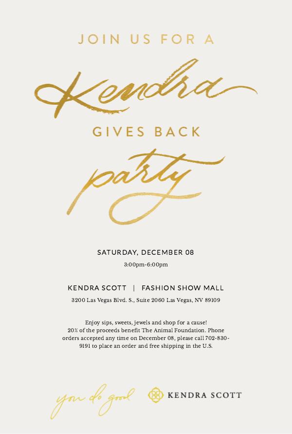Kendra Scott Animal Foundation Invite